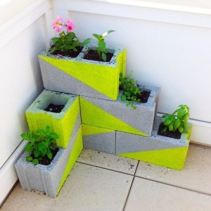 Stylish Breeze-block planter
